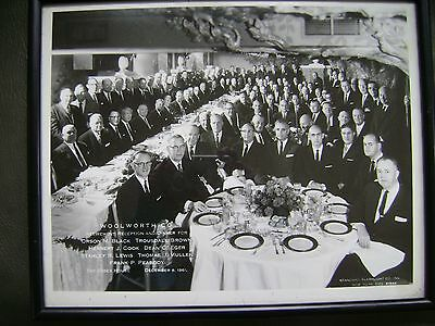 Vintage 1961 Woolworth Co Retirement Dinner Photo The Essex House