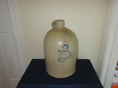 """Antique 19th C Stoneware Red Wing Midwest Tornado Bee Sting 3 Gallon Jug 15 1/2"""""""
