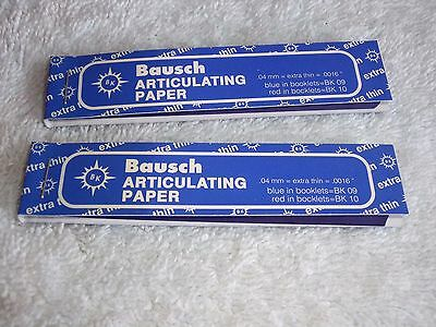 "New Bausch Articulating Paper Blue Ex-Thin 40 Microns 0.0016"", 200/pk!  L9"