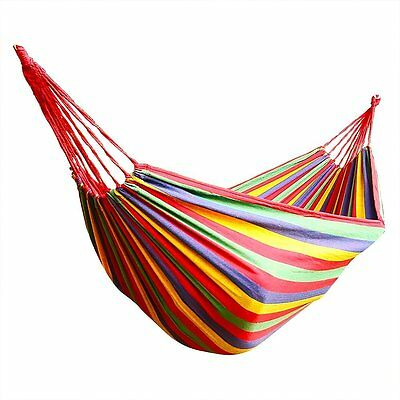 Hammock for 2 persons 200cm * 150cm up to 200 kg Red P8N9