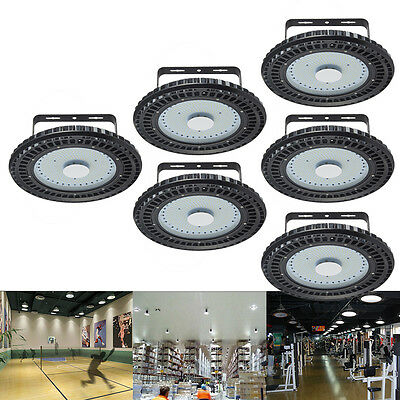 6X 250W UFO LED High Bay Light Cool White Commercial Industrial Lamp Warehouse