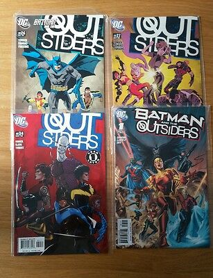 The Outsiders vol 3 26 27 34 Batman And vol 2 1 DC Comics One Year Later
