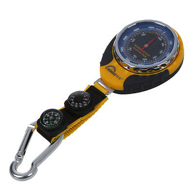 4in1 Compass Barometer Thermometer With Carabiner Camping Hiking Pocket F9I2