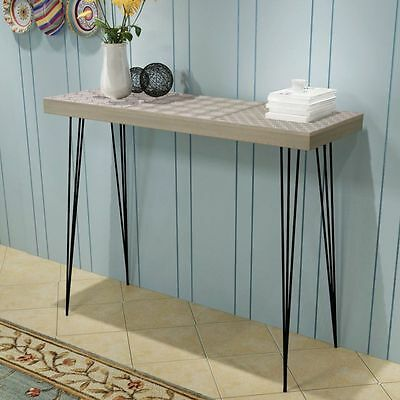 Vintage Hallway Console Table Sideboard Living Room Furniture Steel Pin Legs