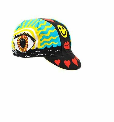 "NEW Cinelli ""Eye of the Storm"" Cotton Cycling Cap - ONE SIZE -retro fixed track"