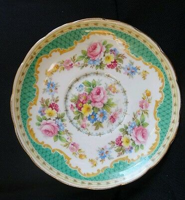 Vintage Foley China Windsor Green Bone China Saucer replacement England