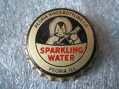 Peoria Hires Bottling Co Sparkling Water Bottle Cap Cork Lined Uncrimped