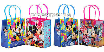 12 Pcs Mickey and Minnie Mouse Authentic Licensed Small Party Favor Goodie Bags