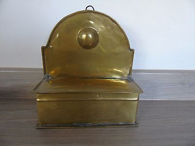 vintage brass candle box
