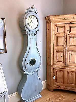 Mora Clock, Fryksdall Style   Southern Sweden – 1800-1825, Handmade, Antique