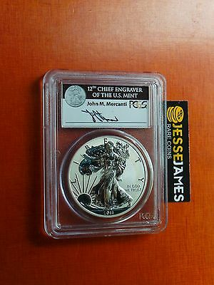 2011 P Reverse Proof Silver Eagle Pcgs Pr69 Spots Mercanti From 25Th Ann Set