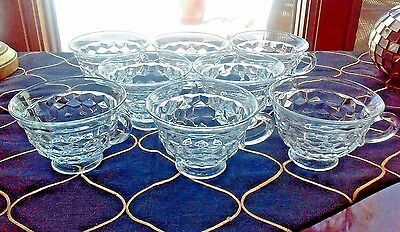 """8 Excellent Clear Fostoria American 2 5/8"""" Clear Flared Cups only"""
