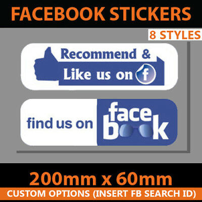 Facebook Vinyl Stickers Home Room Laptop Skateboard Decal Die Cut