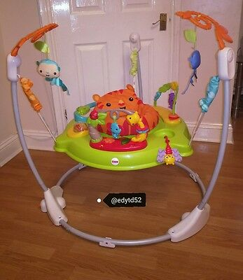 Fisher price jumperoo roaring rainforest bouncer baby toy activity jumping