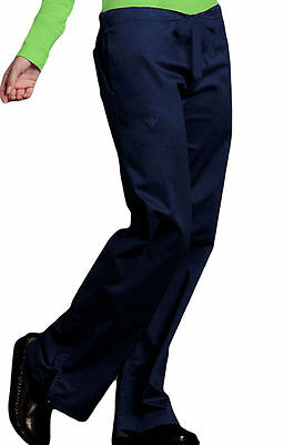 Med Couture Style #8705 Draw/Elastic Waist Scrub Pant in (Navy) Size XS-Petite