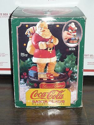 Coke Coca Cola Santa Claus Mechanical Train Bank 1993 Ertl Metal 1st in Series 1