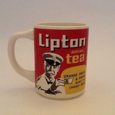 Vintage Lipton Tea Advertising Cups Set of 2 Used Mint Condition
