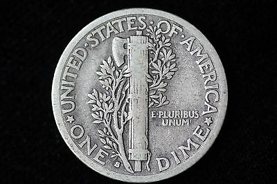 1916-S Mercury Dime LOT 1J30 Fine 10C 10 Cent US Silver Coin very nice coin