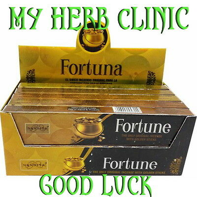 Fortune Incense 12 X15 Gm Packets Fast Free Post Bulk Buy Good Luck Golden Stick