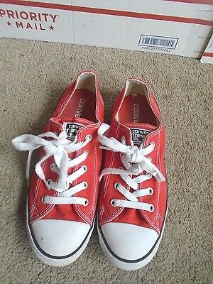Women's Converse All Star red canvas casual sneakers size 8