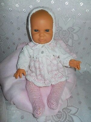 "Pink/White Knitted set for 12"" (31 cm) Doll"