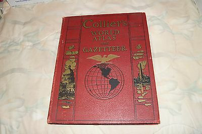 Vintage Collier's World Atlas and Gazetteer 1938.  VERY GOOD CONDITION