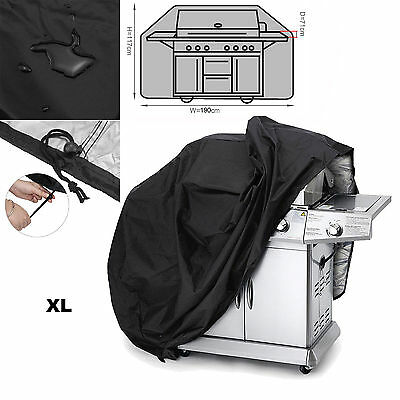 190cm Waterproof Barbecue Cover Garden Patio 4-6 Burner BBQ Grill Rain Protector