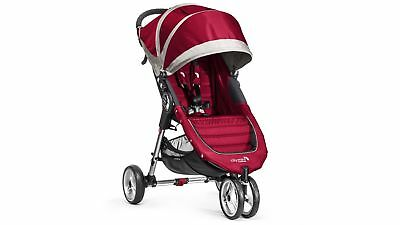 Baby Jogger City Mini Stroller with Lightweight EVA Tyres, in Crimson/Grey