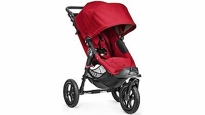 Baby Jogger City Elite Stroller, Non-Flat Tires for Urban/ Rugged trails, in Red
