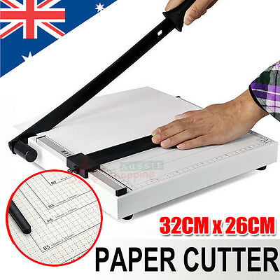 Premium Metal Paper Cutter Size A4 To B7 Guillotine Page Trimmer 12 Sheets New