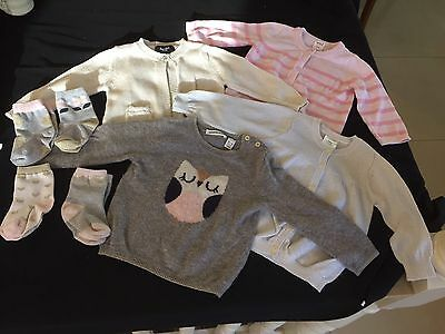 Baby's Cardigans And Socks - Seed,  Bardot - 6-18 Months For Girls