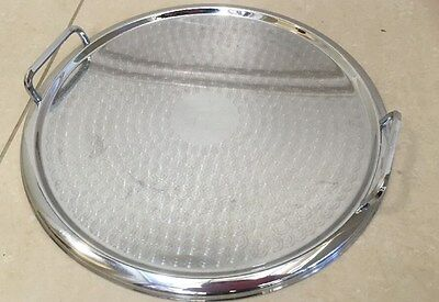 Tray - Round Ranleigh Australia Stainless Steel-Serving Parties Drinks Good Cond