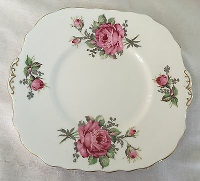 Melba English Bone China 23Cm Square Cake Plate - Berkeley Roses In Ex Cond