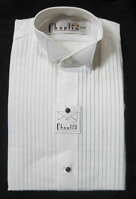 NEW White Wing Collar Tuxedo Formal Shirt - Regular and Big & Tall