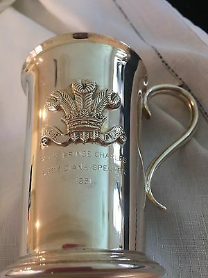 Prince Charles And Lady Diana 1981 Silverplate Tankard In Ex. Cond. Barker&ellis
