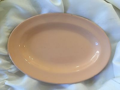 Vintage Grindley Peach Petal Oval Entree Plates X 2 In Vg Cond.