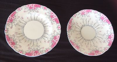 Crown Staffordshire English Fine Bone China Side Plate And Saucer Vgc