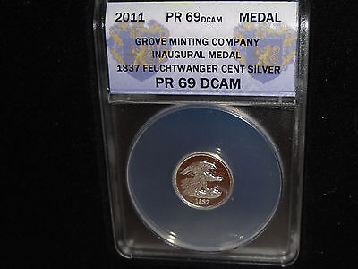 2011 Silver Commemorative of the 1837 Feuchtwanger Cent. Proof 1/10 .999 SILVER