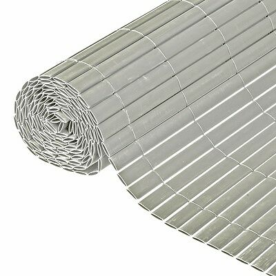 Nature Garden Fence Screen Panel Cover Shade Mat Sunshade 1x3 m PVC Grey 6050375