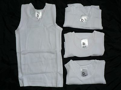 **BNIP** 4 x Baby Girl's Singlets – Sizes 0 & 00 Available
