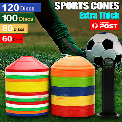 Sports Training Discs Markers Cones Soccer Afl Exercise Rugby Fitness Sets