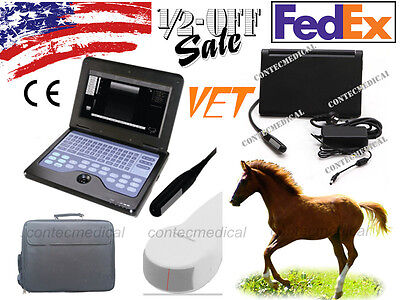 With 2 Probes Veterinary Portable Ultrasound Scanner Animal rectal/micro-Convex