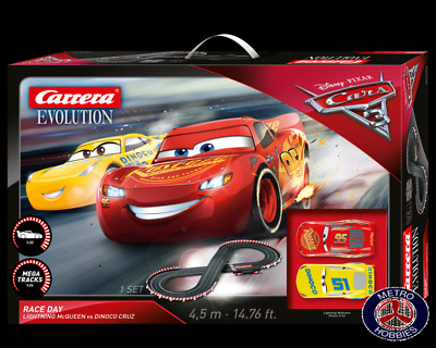 Carrera Evolution Disney/Pixar Cars 3 Take Off Slot Car Set 25226 Brand New