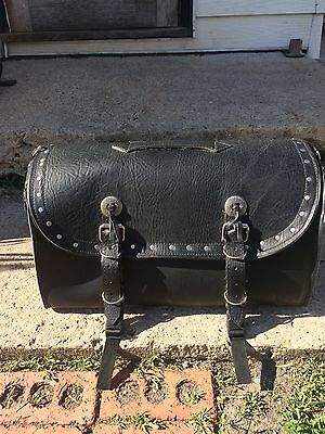 leather duffle luggage rack bag for motorcycle