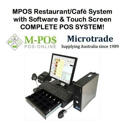 "15"" Cash Register System with Touch Screen & POS Restaurant/Café software Inc."