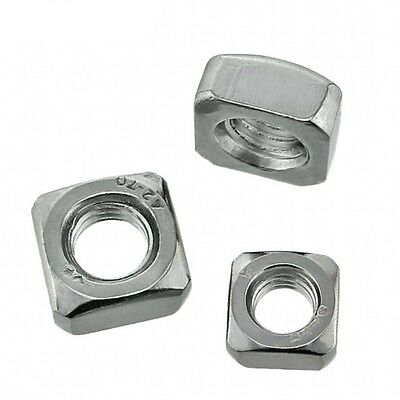 M3*5.4*2.4 Square Nuts Machine Screw Nut 304 A2 Stainless Steel