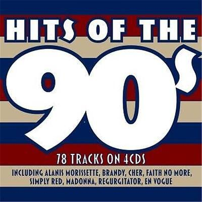 HITS OF THE 90s VARIOUS ARTISTS 4 CD DIGIPAK NEW