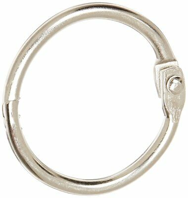 "School Smart Nickel Plated Loose Leaf Ring, 1"" Diameter Pack of 100"