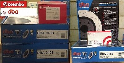 DBA T2 FRONT/REAR SLOTTED ROTORS & BREMBO  PADS suit HOLDEN VT- VZ COMMODORE
