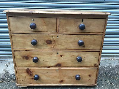 19th Century 2over3 Pine Chest Of Drawers